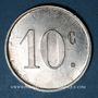 Monnaies Barbaira (11). Union des Commerçants. 10 centimes, sans cercle perlé