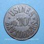 Monnaies Bavilliers (90). Usines. 10 centimes