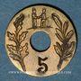 Monnaies Beaucourt (90). Fraternelle. 5 centimes