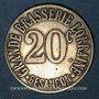 Monnaies Besançon (25). Grande Brasserie Lorraine. 20 centimes