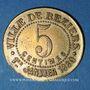 Monnaies Béziers (34). Ville de Béziers - La Fraternelle. 5 centimes 1.1.1880