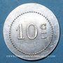 Monnaies Bourg-en-Bresse (01). Mess des Sous-Officiers du 23e. Bourg. 10 centimes 1918