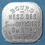 Monnaies Bourg-en-Bresse (01). Mess des Sous-Officiers du 23e. Bourg. 20 centimes 1918
