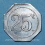 Monnaies Castres (81). Restaurant Coopérative - D.P.A. (Dépôt du Parc d'Artillerie). 25 centimes