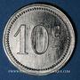 Monnaies Cavalerie. 12e hussards. Cercle des sous-officiers. 10 centimes