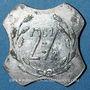 Monnaies Chagny (71). Boulangerie Boivin. 2 1/2 cmes zinc nickelé