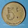 Monnaies Chambéry (73). Société Coopérative des Agents de la Compagnie P.L.M. 5 centimes