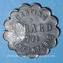 Monnaies Cholet (49). Cantine GIRARD - 77e d'Infanterie. 1 franc. Contremarqué