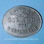 Monnaies Cholet (49). Cantine GIRARD - 77e d'Infanterie. 10 centimes. Contremarqué