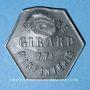 Monnaies Cholet (49). Cantine GIRARD - 77e d'Infanterie. 25 centimes. Contremarqué