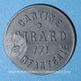 Monnaies Cholet (49). Cantine GIRARD - 77e d'Infanterie. 5 centimes. Contremarqué