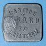 Monnaies Cholet (49). Cantine GIRARD - 77e d'Infanterie. 5 francs. Contremarqué