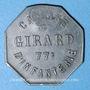 Monnaies Cholet (49). Cantine GIRARD - 77e d'Infanterie. 50 centimes. Contremarqué