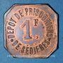 Monnaies Clergoux (19). Dépôt de Prisonniers de Sédières. 1 franc