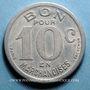 Monnaies Cognac (16). Epicerie J. Dalidet. 10 centimes 1922