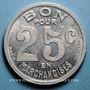 Monnaies Cognac (16). Epicerie J. Dalidet. 25 centimes 1922