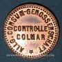 Monnaies Colmar (68). Allgemeine Consum Genossenschaft Controlle. 1 pfennig (1890-1898)