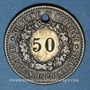 Monnaies Colmar (68). Ate. Kroepfle (54 rue des clefs). Chiffre 12 remplacé par 50