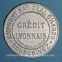 Monnaies Crédit Lyonnais. 10 centimes (rouge/bleu)
