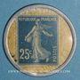 Monnaies Crédit Lyonnais. 25 centimes (bleu/blanc)