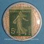 Monnaies Crédit Lyonnais. 5 centimes (vert/rose)
