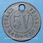 Monnaies Crouy (02). Forges de l'Aisne. 5V