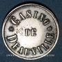 Monnaies Deauville (14). Casino. Jeton sans valeur. Maillechort