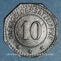 Monnaies Forbach (57). Ville. 10 pfennig