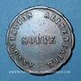 Monnaies Grenoble (38). Ville de Grenoble - Association Alimentaire. Soupe 1850. Cuivre