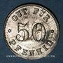Monnaies Illkirch-Graffenstaden (67). Consum-Genossenschaft (1873-79). 50 pfennig