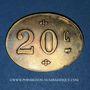 Monnaies Infanterie. 107e. Mess des Sous-Officiers. Angoulême (16). 20 centimes
