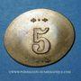 Monnaies Infanterie. 107e. Mess des Sous-Officiers. Angoulême (16). 5 centimes