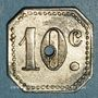 Monnaies Infanterie. 154e. Mess des Sous-Officiers. Metz (57). 10 centimes (1918-1922)