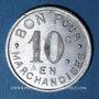 Monnaies Jarnac (16). Epicerie Ch. Mallat. 10 centimes 1922