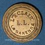 Monnaies La Garenne-Colombes (92). L. L., L'Eclair - La Garenne. 50 centimes