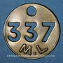 Monnaies Landres (54). Mines de Landres M. L., Jeton de pointage, n° 337