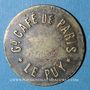 Monnaies Le Puy (43). Grand Café de Paris. 5 centimes. Laiton