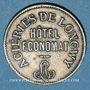 Monnaies Longwy (54). Aciéries de Longwy - Hôtel Economat. 50 centimes 1883