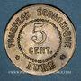 Monnaies Lure (70). Fourneau Economique. 5 centimes