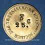 Monnaies Lyon (69). Société des Travailleurs Unis. 25 centimes