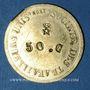 Monnaies Lyon (69). Société des Travailleurs Unis. 50 centimes