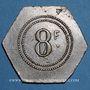 Monnaies Marseille (13). Exposition Coloniale (1922) - Ferme Provençale, Restaurant-Brasserie. 8 francs