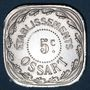Monnaies Montpellier (34). Etablissements Ossart. 5 centimes 1921
