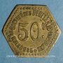 Monnaies Mulhouse (68, Alsace). Société des Débitants de Mulhouse et Environs. 50 centimes