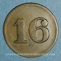 Monnaies Mulhouse (68). Joseph Klintz, restaurant. 16 pfennig