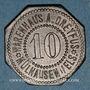 Monnaies Mulhouse (68). Warenhaus A. Dreyfus (Grand magasin). 10 pfennig. Zinc