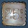 Monnaies Olonzac (34). Grand Café Soler. 25 centimes. Type rare !