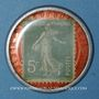 Monnaies Paris (75). Pilules Pink. 5 centimes (vert/rouge)