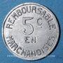 Monnaies Pau (64). Coopérative Militaire. 5 centimes