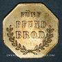 Monnaies Ribeauvillé (68). Consum Verein. Fünf Pfund Brod (5 livres de pain). 1877. Flan mince